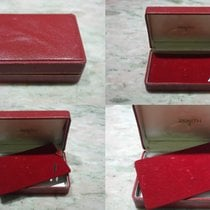 Zenith rare vintage watch box leather red for chrono 146/156 gold