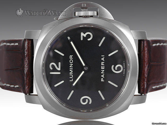 Panerai PAM 176 Luminor Base 44mm Titanium - Black Sandwich Dial