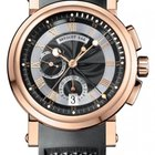 Breguet Marine Automatic Dual Time 18K Rose Gold Rubber Men`s...