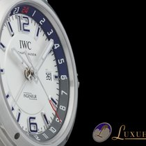 IWC Ingenieur Dual Time 43 Automatik Edelstahl Datum Weiss-Zif...