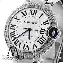 Cartier Ballon Bleu W6920046 Automatic Mid-size Watch Pave...