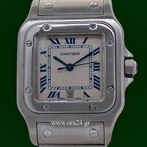 Cartier Santos de Cartier Galbee Date Stainless Steel Box&...