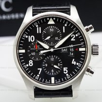 IWC Pilot Chronograph SS Black Dial
