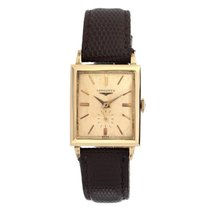 Longines Mens Solid 14k Gold Manual Wind Swiss Made Luxury Mid...