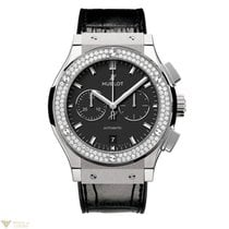 Hublot Classic Fusion Chronograph Titanium Diamonds Men's...