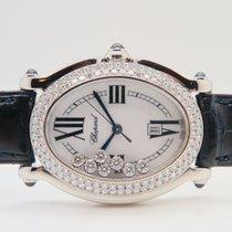 Chopard Happy Sport 18k White Gold All Factory Diamonds...