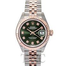 Rolex Lady Datejust 28 Olive Green 18k Everose gold/Steel G...