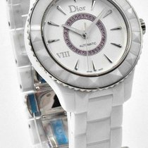 Dior VIII White Ceramic CD1245EFC001 38mm Automatic Pink...