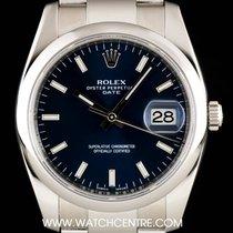 Rolex Stainless Steel Blue Baton DialDate Gents 115200