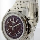 Breitling Bentley Steel Burgundy Dial Chronograph Mens...