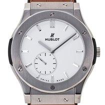 Hublot [NEW] Classic Fusion Titanium White Shiny Dial 42mm