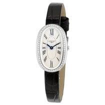 Longines Symphonette Silver Dial Black Leather Ladies Watch