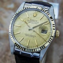 Rolex Swiss Made 16013 Quickset 18k Gold And Stainless Steel...