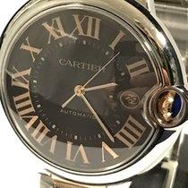 Cartier Ballon Bleu 42mm Steel Gold chocolate dial NOS