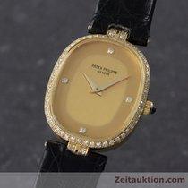 Patek Philippe Lady 18k Gold Ellipse Handaufzug Damenuhr...
