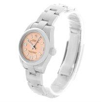 Rolex Nondate Ladies Salmon Dial Oyster Bracelet Watch 176200