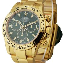 Rolex Unworn 116508 gri Daytona in Yellow Gold with Green Dial...