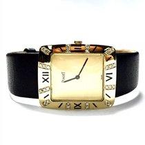 Piaget 18k Solid Yellow Gold Ladies/unisex Watch W/ Black...
