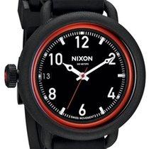 Nixon October A488-760 Herren All Black Red 48mm 300M Swiss Mvt.