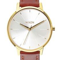 Nixon A108-1425 Kensington Leather Gold Saddle 37mm 5ATM