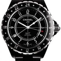 Chanel J12 Automatic 42mm GMT Black Ceramic Watch H2012