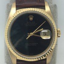 Rolex 16238 Datejust 18k Yellow Gold With Original Onyx Dial RARE