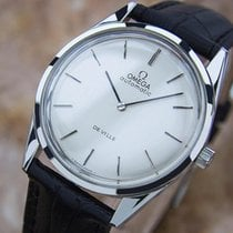 Omega Deville Rare Mens Vintage Automatic Stainless Watch...