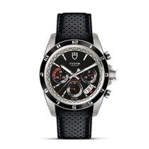 Tudor GRANTOUR Fly Back Bracelet Black Dial Chronograph 20530 N