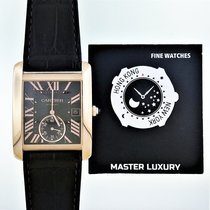 Cartier W5330002 Tank MC Rose Gold Large Model Brown Dial Leather