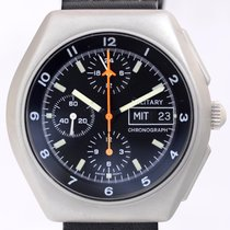 Tutima BUND Military Chronograph Stahl Lemania 5100 Fliegeruhr...