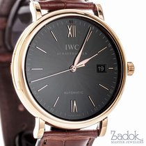 IWC Portofino Automatic 18k Red Gold Case Grey Dial Men's 40mm...