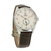 TAG Heuer Carrera Mens Calibre 6 Leather  Strap Watch WAS2112....