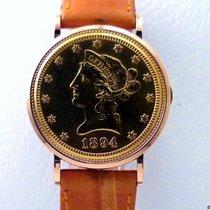 Piaget Ten Dollar Coin Watch 18 K Yellow gold