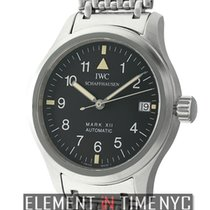 IWC Pilot Collection Mark XII Vintage Stainless Steel Black...