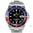 Rolex GMT-Master II Stainless Steel Black Dial Blue and Red...