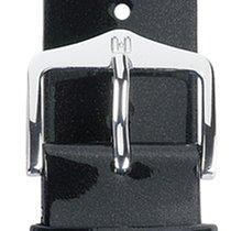 Hirsch Uhrenarmband Diva schwarz-glitzer M 01536150-2-18 18mm