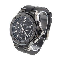 Bulgari Diagono Mens 42 mm Black Steel Chronograph Ref....