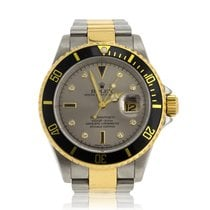 Rolex Submariner Stainless Steel & Gold Slate Serti Dial