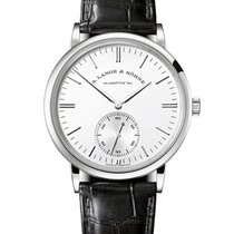 A. Lange & Söhne Saxonia Mens 385mm Automatic in White Gold