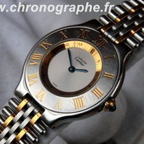 Cartier MUST 21 dame Quartz bracelet or et acier 2003