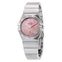 Omega Constellation Light Coral Mother of Pearl Ladies Watch...