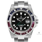 Rolex GMT-Master II Stainless Steel Black Dial Diamond...