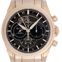 Omega De Ville Automatic Chronograph GMT Men's 18K Rose...