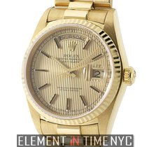 Rolex Day-Date President 18k Yellow Gold Single Quick Set...