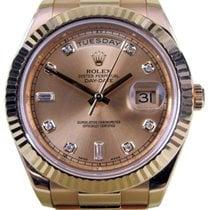 Rolex Day-Date II President 218238 Champagne Diamond 41mm 18k...