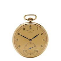 IWC Vintage Turler Pocket Watch 18k Yellow Gold Unisex