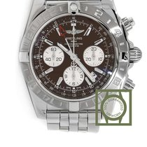 Breitling Chronomat 44 GMT Chronograph Brown Dial Full Steel NEW