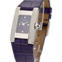 Chaumet Style Rectangle with 2 Row Diamond Bezel