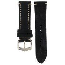 Hirsch Liberty Black Thick Calf Strap 24mm