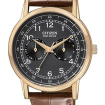 Citizen Eco-Drive Mens Day/Date Strap Watch - Black Dial and...